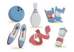Bowling Alley Vektor Set