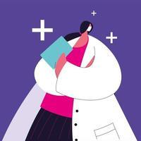kvinnlig läkare står. sjukhuspersonal