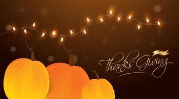 lycklig tacksägelsehuvud eller banner design vektor