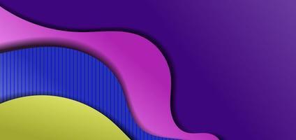 abstrakter Hintergrund mit bunten Wellen