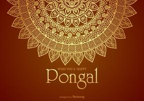 Happy Pongal vektor Card