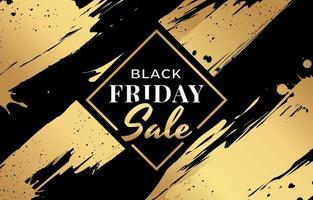 Schwarz-Gold-Ästhetik für den Black Friday Sale