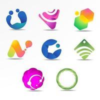 abstrakte Logo-Sammlung mit Farbverlauf vektor