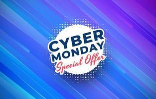 Modernes Tech Cyber Montag Sonderangebot vektor