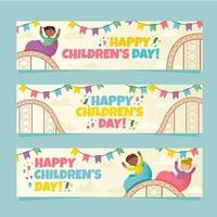 Kindertag Banner Vorlagen vektor