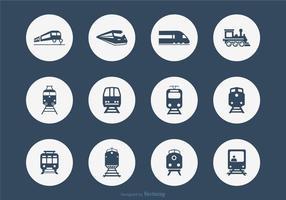 Zwölf Eisenbahn-Vektor-Icons