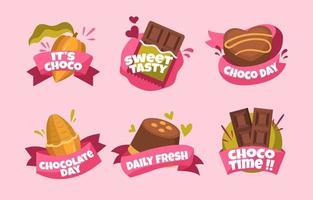 Schokoladendesserts für den Schokoladentag vektor