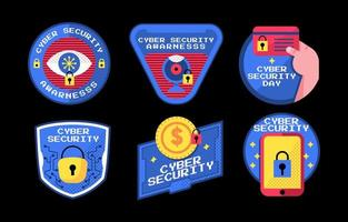 Sechs wichtige Dinge zum Bewusstsein für Cybersicherheit vektor