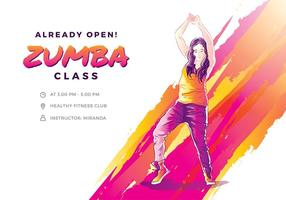 Zumba Illustration Free Vector