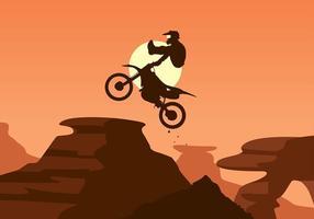 Bike Trail Jump Free Vector