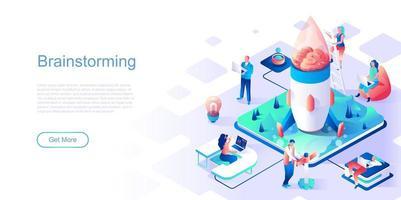 Brainstorming-Landingpage-Vorlage vektor