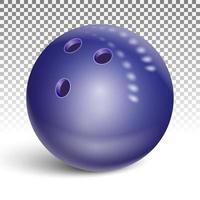 lila Bowlingkugel