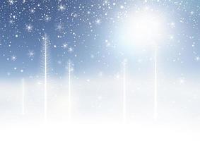 vinter snöigt landskap vektor