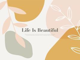 abstrakte organische minimalistische Hintergrundvorlage vektor