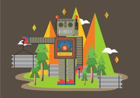 Freie Roboter Illustration Vektor