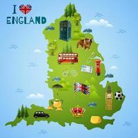 England London Reisekarte