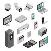 isometrisches Smart Home Set