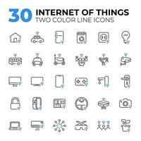 uppsättning internet av saker ikoner vektor