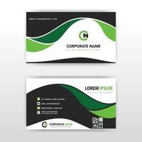 grön vågig visitkortsmall