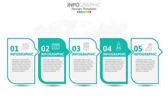 Infografiken für Geschäftskonzept mit Symbolen vektor