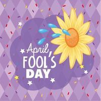 april dårar dag med rolig blomma