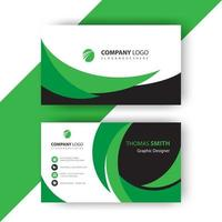 grönt vågigt visitkort
