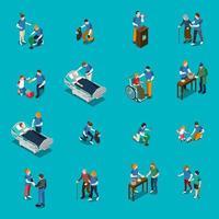 Freiwillige Wohltätigkeitsorganisation isometrische Menschen