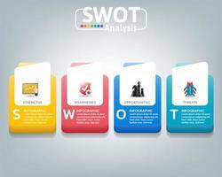 swot-analys affärsinfografik