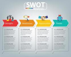 Swot-Analyse Business Infografik