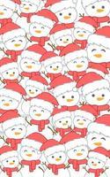 jul mönster med snögubbe vektor