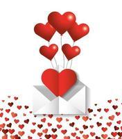 hjärtformade ballonger för alla hjärtans dag