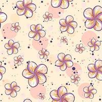 repetitiver Sommerhintergrund mit Plumeria-Blüten