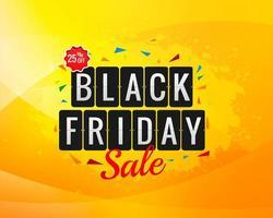 schwarzer Freitag gelbe Spritzer Verkaufsfahne vektor