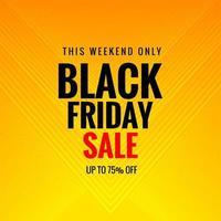 Plakat für schwarzen Freitag Verkauf