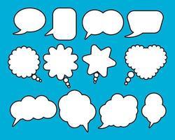 komiska tal bubbla uppsättning vektor