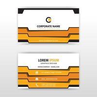 abstrakt orange guld flik företags kortmall