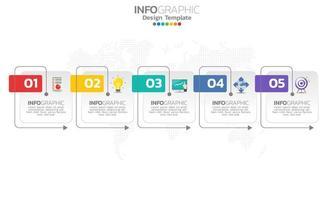 tidslinje infografisk mall med pilar