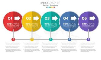 Timeline-Infografik-Vorlage mit Pfeilen
