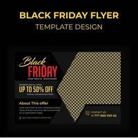schwarze Freitag Werbepostkarte