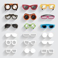 grafische Brille gesetzt