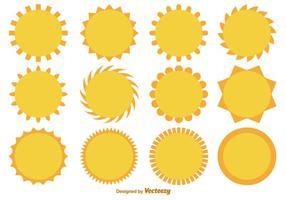 Vector Cartoon Wohnung Sonnen-Sammlung