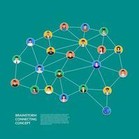 Brainstorming, das Menschenkonzept verbindet vektor