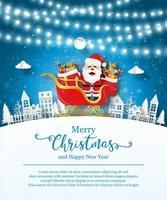 Weihnachtsplakatschablone mit Weihnachtsmann