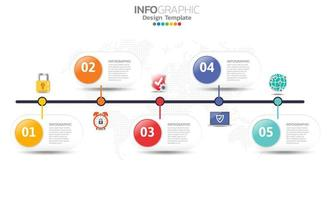 Sicherheits-Infografik-Konzept mit Symbolen