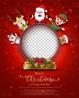 Weihnachtsplakatschablone mit Feiertagscharakteren