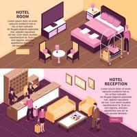 isometriska hotellbanderoller vektor