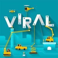 virales Konzept des technischen Gebäudetextes vektor