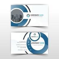 cirkulära former vita och blåa visitkort