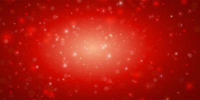 rotes Banner mit Lichtern und Bokeh-Effekten