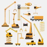 Baufahrzeuge eingestellt vektor